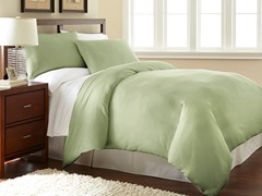 Micro Flannel® Duvet Cover Set-Green- 3 Sizes