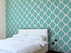 French Garden Damask Teal Tiles