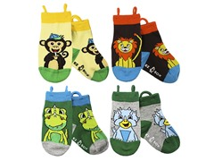 4-pk Socks - Dinos & Friends (S-L)