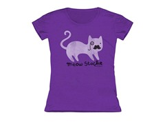 Girls Toddler Tee - Meow Stache (3T)