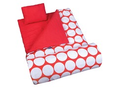 Wildkin Sleeping Bag - Big Dot Red