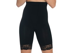Lace Trim Thigh Shaper, Black