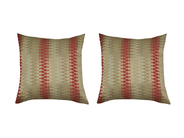 Burgundy Color Decorative Pillows : Ally Set of Two Luxury Decorative Square Pillows-2 Colors