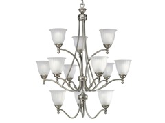 12-Light Chandelier, Nickel