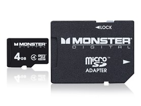 Monster Class 4 microSD Cards