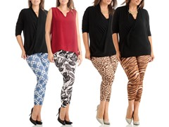 Dinamit 4-Pack Leggings, Plus Size