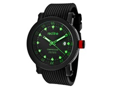Green/Black with Black Silicone Band