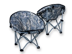 Lucky Bums Kids Moon Camping Chair, Camo