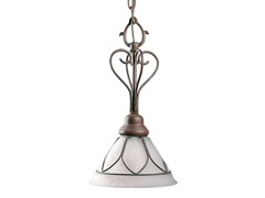 Etched Glass Mini-Pendant, Cobblestone