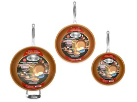 "Gotham Steel 3-Piece Pan Set - 9.5"", 11"" and 12.5"""