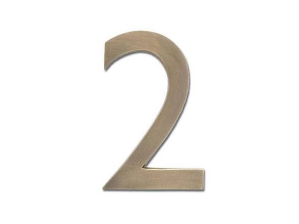 4 inch house numbers antique brass With 4 inch house letters