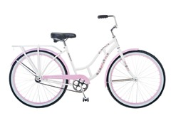 "Women's Sanctuary 26"" White/Pink Cruiser"