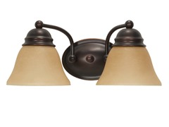 "2-Light 15"" Vanity, Mahogany Bronze"