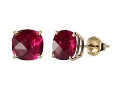 10K YG Stud Earrings, Ruby