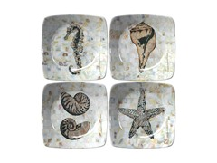 Thirstystone Pearlized Coastal Winers, Set/4 Multi
