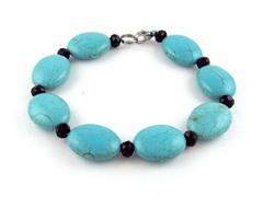Genuine Turquoise Black Onyx Bracelet