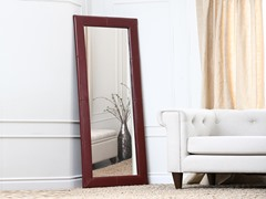 Leather Floor Mirror (2-Colors)