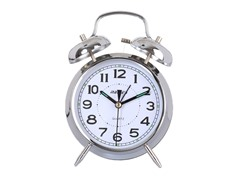 "Maple's Clock 4"" Double Bell Alarm Clock (2 Colors)"