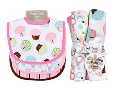 Trend Lab Bib & Burp Cloth Set - Cupcake