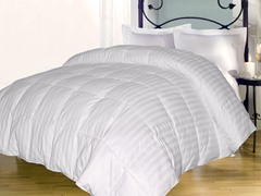 Stripe Down Alternative Comforter-White-3 Sizes