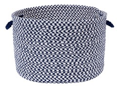 Houndstooth Storage Basket - Blue (2 Sizes)