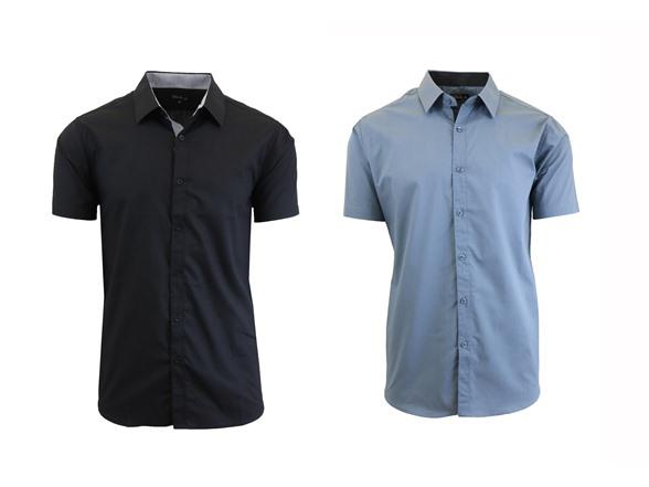 Gbh Mens Short Sleeve Dress Shirt 2 Pk