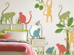 Monkey Group Wall Decals
