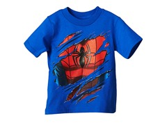 Spiderman Short Sleeve Tee- Blue (2T-3T)