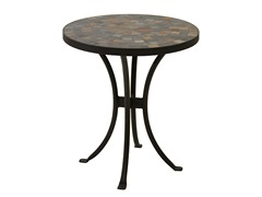 18-Inch Slate Mosaic Accent Table