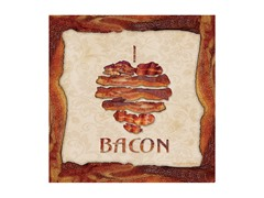 I Love Bacon Coasters- Set of 4