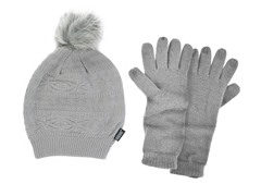 MUK LUKS® Beanie with Texting Glove,Grey
