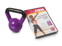 Gaiam The FIRM 5lb Kettle Bell/DVD Kit