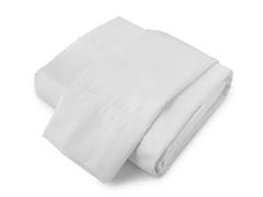 380TC Percale Sheet Set White - Queen