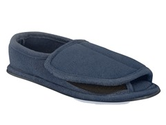 Men's Terry Adjustable Open Toe Full Foot, Navy