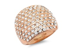18kt Rose Gold Plated w/ Sim. Diamonds