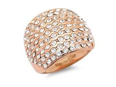 18kt Rose Gold Plated w/ Sim. Diamonds