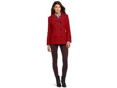 Anne Klein Women's Laura Coat, Red