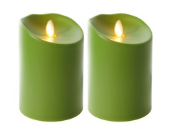 Luminara 2 Pk Indoor/Outdoor Flameless Apple Green