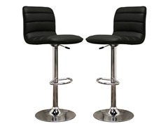Lyris Black Bar Stool- Set of 2