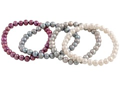 Set of 4 Freshwater Pearl Bracelets