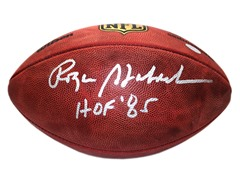 Roger Staubach Duke NFL Football w/ HOF