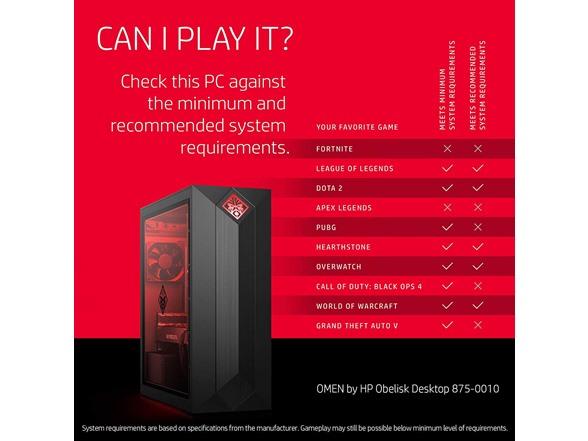 HP OMEN Obelisk 875-0010 AMD R5,GTX 1060