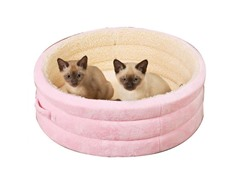 "Savvy Tabby Nestle Bed 22"" - Baby Pink"