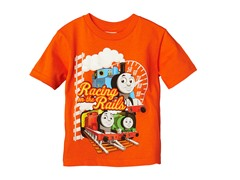 Thomas Short Sleeve Tee - Orange (2T-4T)