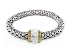 Stainless Steel White Stretch Bracelet