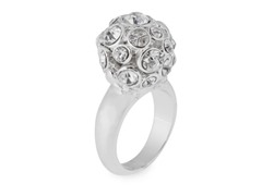 Relic RJ1370040-7 Silver Crystal Encrusted Ring