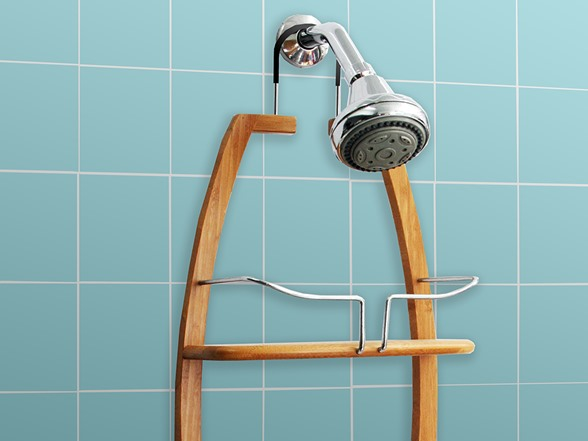 Vanderbilt Over the Head 2 Tier Bamboo Shower Caddy