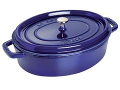 Staub 4-Qt. Wide Oval Cocotte - Dark Blue