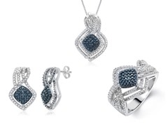 Blue & White Diamond Set