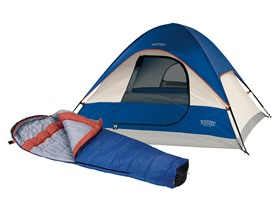 Wenzel Tent and Sleeping Bag Combo
